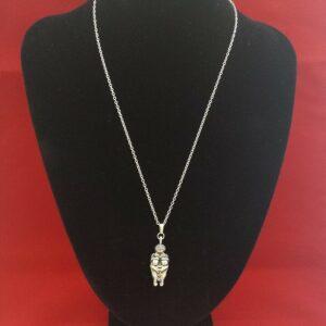 VENUS of WILLENDORF Diosa de la fertilidad Colgante en collar de plata de ley 925