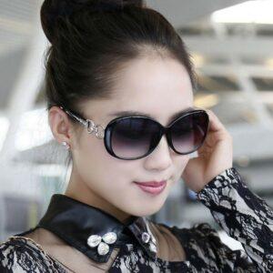 Vintage Ladies Gafas de sol Mujer Retro Shades Summer Fashion Designer UV 9509