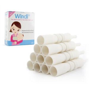 WINDI (Solución natural para ayudar a los bebés a aliviar los gases, el estreñimiento y los cólicos)