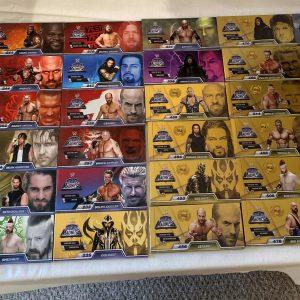 WWE Flip Madness Juego completo (30 libros) Titanio dorado - NUEVO