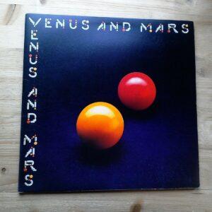 Wings Venus And Mars 1st VG Disco de vinilo PCTC 254 Porky Prime Pegatinas y carteles