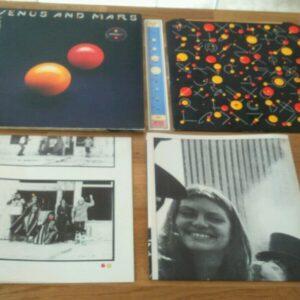 Wings Venus And Mars UK LP con carteles interiores pegatinas The Beatles McCartney