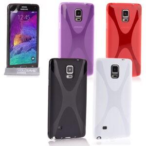 Yousave Accessories Samsung Galaxy Note 4 Silicone Gel X-Line Funda para teléfono