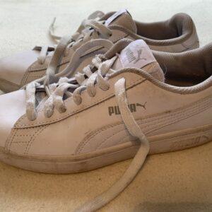 Zapatillas Puma Mujer Cuero Blanco Moda Talla Uk 5.5