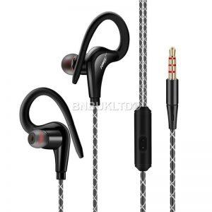 deportes in ear sobre auriculares auriculares con micrófono + control remoto para correr en el gimnasio mp3