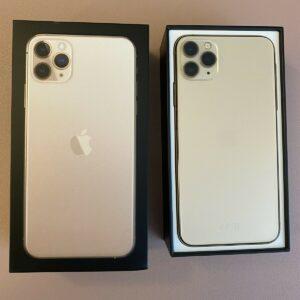 iPhone 11 Pro Max 64GB Teléfono inteligente dorado con caja O2