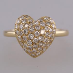 0.70 Carat Diamond Heart Ring 18ct Yellow Gold
