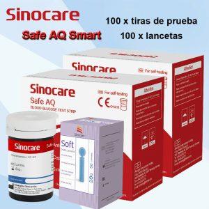 100PCS Tiras reactivas para medidor de glucosa en sangre para Sinocare AQ Tester