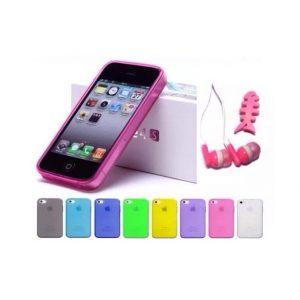 10x  iPhone 4/4s TPU Matte Cases,Dust Proof Plugs Plus 10  Assorted Ear Phones
