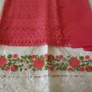 Latest Fashion Laser Cut Cotton  unstitched Pakistani Indian Salwar Kameez  suit