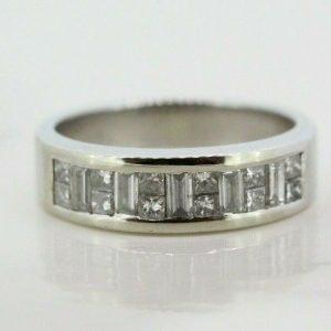 18ct White Gold 0.55ct Diamond Eternity Ring (Size L)