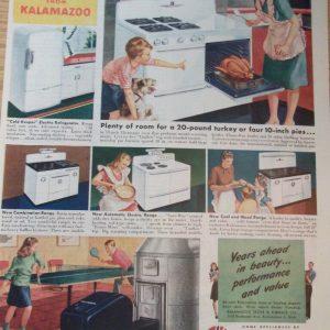 1946 Kalamazoo Home Appliances Magazine Advertisement