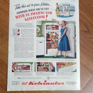 1950 Kelvinator Kitchen Appliances Ad  Refrigerator