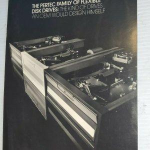 "1976 PERTEC 8"" FLEX DRIVES BROCHURE FOR S-100 VINTAGE COMPUTERS"