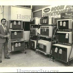 1979 Press Photo Display Of Air Conditioners, Schwegmann Brothers Super Market