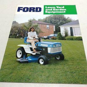1984 Ford Lawn, Yard, Garden Equipment Sales Brochure
