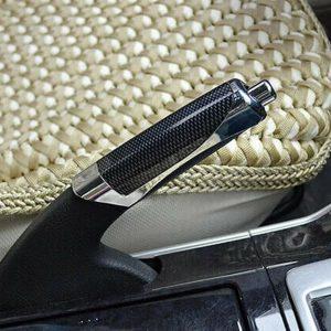 1x Universal Car Truck Hand Brake Carbon Fiber Protector Decor Cover Accessories