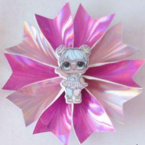 "20 Girl Latest Fashion 3.5"" Fairy Hair Bow Clip B L.O.L Doll Baby Spangle Flash"