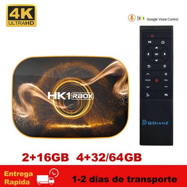 2020 HK1 RBOX R1 Android 10.0 TV Box RK3318 2.4G/5G Wifi TV Caja HK1RBOX 2GB 4GB