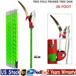 26 ft Tree Pole Pruner Tree Saw Branch Long Reach Limb Cutter Garden Equipment