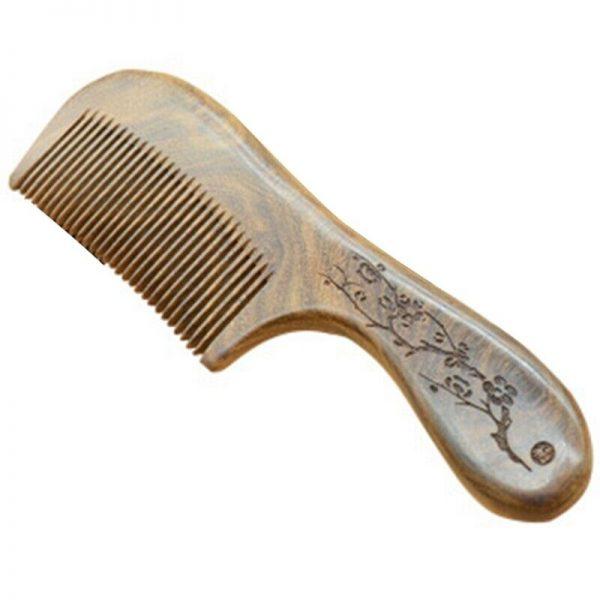 30X(Hair Care Products Health Popular Natural Massage Black Sandalwood Hand I4L9
