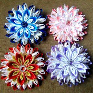 3,5 inch Hair Clip Dance Moms girls hair clip kids accessories satin ribbon