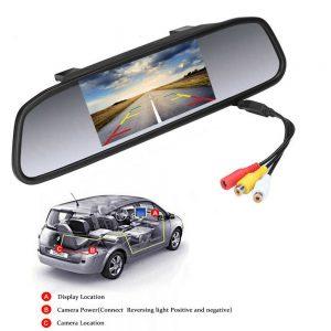 "4.3"" TFT Espejo Retrovisor para Automóvil Cámara Monitor de aparcamiento DVR DVD"