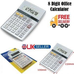 8 Digit Scientific Electronic Sharp Calculator LCD Display Home Office School UK