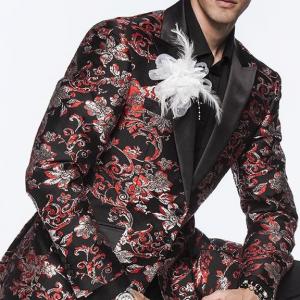 Angelino Men's Fashion Blazer Sport Coat - Torro Red