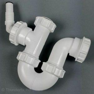 Appliance Waste Trap Half P Trap 40mm Washing Machine Drain Hose Spigot TW472
