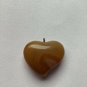 Assymmetrical Heart Shape Semi Precious Stone Pendant