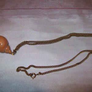 "Avon ""Sea Swirl"" pendant  26"" long chain"
