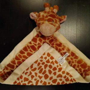 Baby Ganz Jamie Giraffe Mini Blankie Blanket Snuggler Lovey EUC