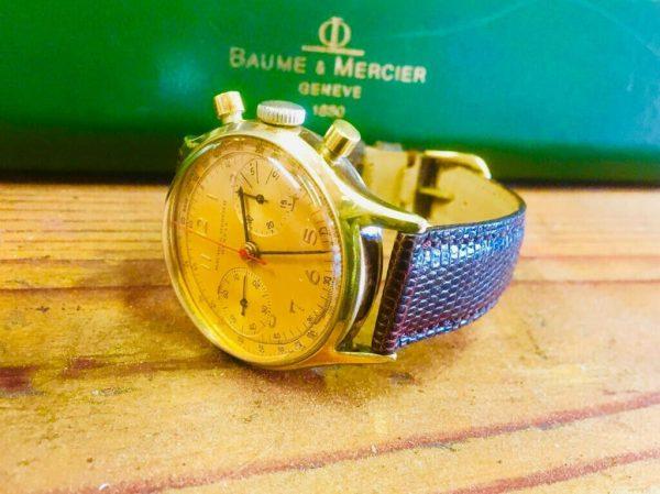 Baume & Mercier Men's Vintage Geneve Chronograaf 1950s watch.