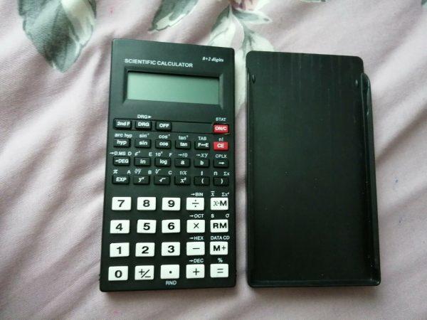 Black Electronic Scientific Calculator Office Equipment Handheld