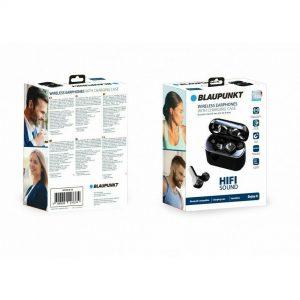 Blaupunkt Wireless Earphones With Charging Case.  Black