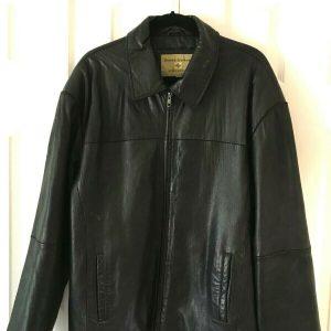 Boston Harbour Outdoor Wear Mens  Black Leather Jacket XL