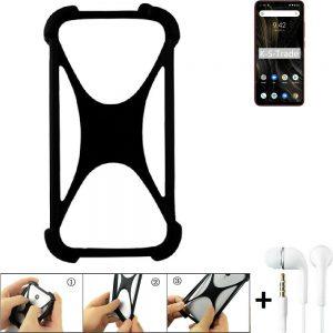 Bumper für UMIDIGI Power 3 Silikon Hülle Softcase + earphones Stoßschutz Kant