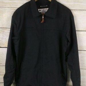 COLUMBIA Sports Wear Company Black Sz Large Full Zip Men's Light Wear Jacket