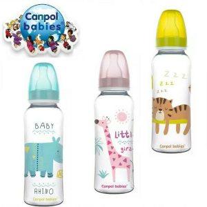 Canpol babies Narrow Neck Bottle 250ml Canpol babies pink blue green
