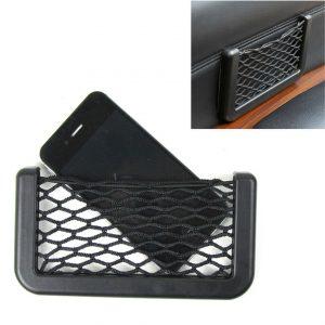 Car Auto Interior Body Edge Black Elastic Net Storage Phone Holder Accessories