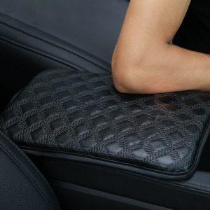 Car Auto Truck Leather Armrest Pad Trim Cover Center Console Box Accessories