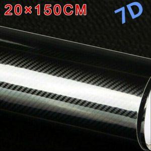 Car Carbon Fibers Stickers Decal Vinyl Film Interior Wrap Accessories Top Sale
