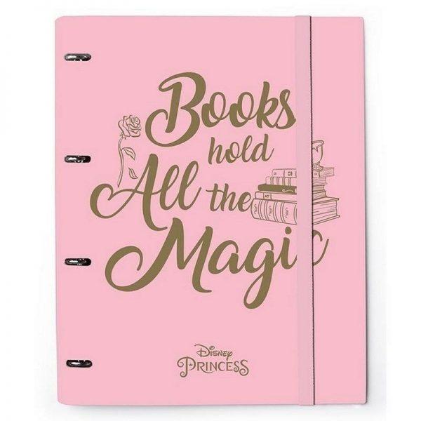 Carpeta 4 Anillas Troquelada La Bella ya la Bestia Books Hold All The Magic