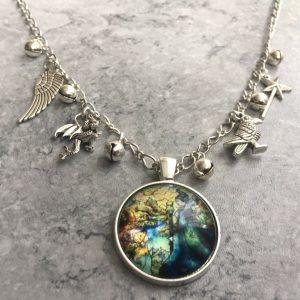 Disney Maleficent Movie Sleeping Beauty Multi Charm  Necklace