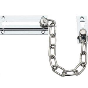 Door Chain for Front Door - High Security Door Chain Lock with Chrome Finish