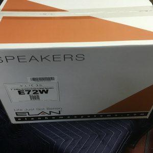 """Elan E72W in wall speakers Pair 2 way in wall speakers 7"""" woofer and 1"""" tweeter"""