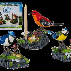 Electronic Singing Chirping Bird Pen Holder - Home Office Desk Decor Gift