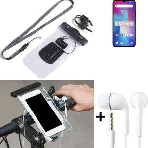 Fahrrad Halterung für UMIDIGI Power + earphones wasserdicht Lenkstangen Halter