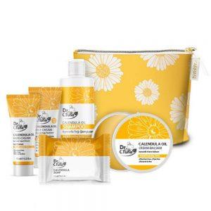 Farmasi Dr. C. Tuna Calendula Oil Skin Care Repairing SET ! 5 Products+ Gift Bag